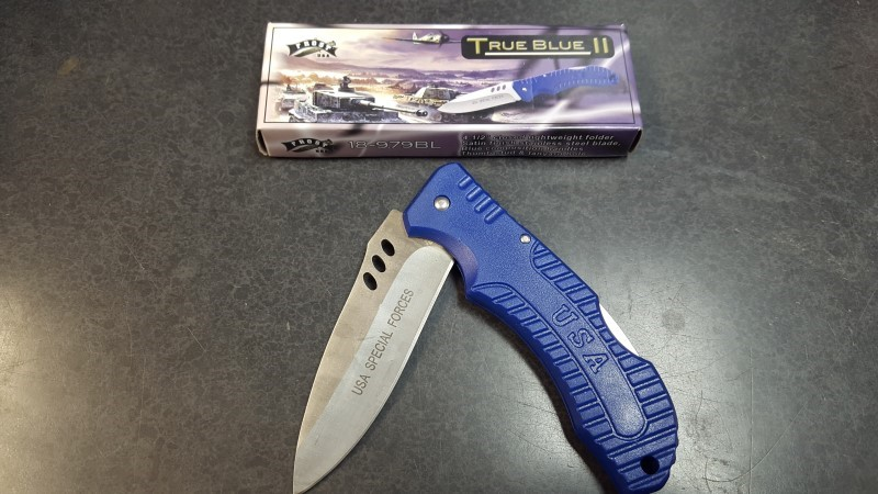 FROST CUTLERY Pocket Knife TRUE BLUE II