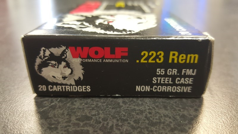 WOLF DESIGNS Ammunition 223 REM 55GR FMJ
