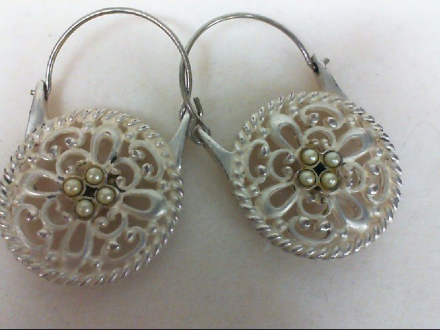 Pearl Silver-Stone Earrings 925 Silver 10.9g