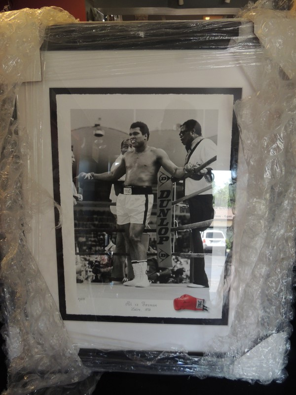 MIRRORPIX MUHAMMED ALI VS FOREMAN 1974 FRAMED NUMBERED LIMITED EDITION