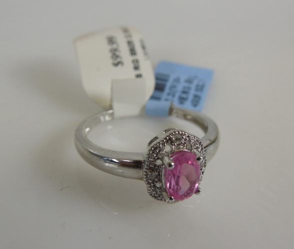 Lady's Silver Ring 925 Silver 2.3g Size:7