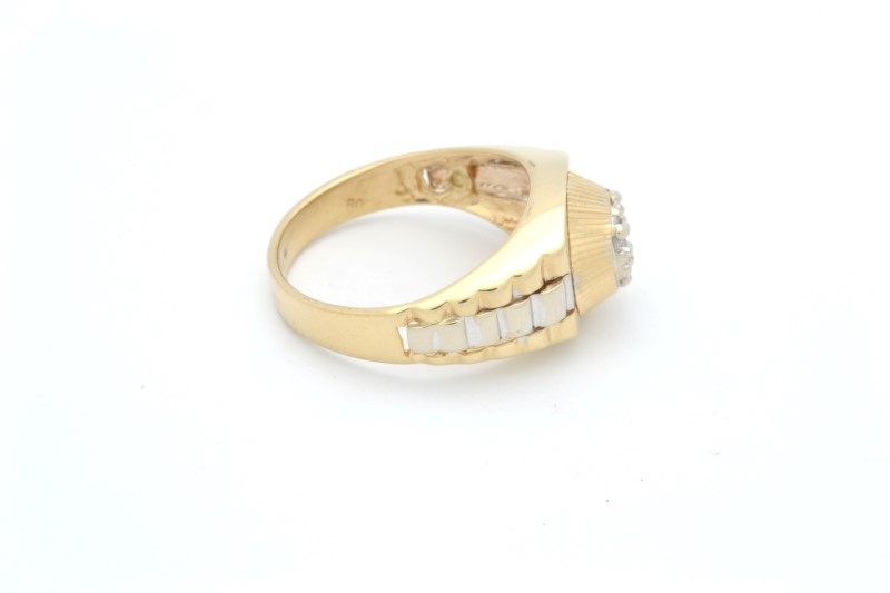 ESTATE CLUSTER RING SOLID REAL 14K GOLD JUBILEE DESIGN MENS SIZE 10
