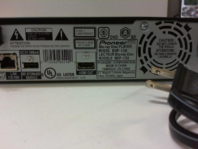 PIONEER ELECTRONICS Blu-Ray BDP-120