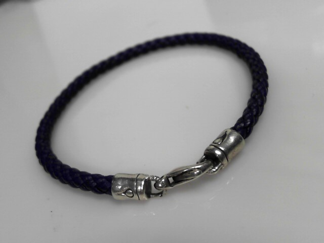 John Hardy Sterling Silver Blue Cord Bracelet 4.65g