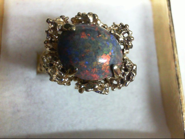 Opal Lady's Stone Ring 14K Yellow Gold 6.9g