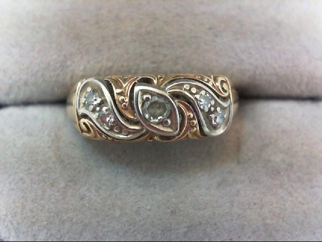 Lady's Diamond Wedding Band 5 Diamonds .22 Carat T.W. 14K Yellow Gold 4g