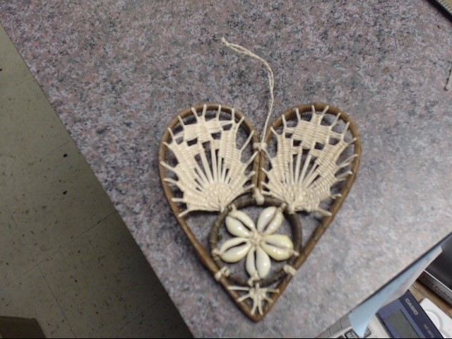 HAND MADE AND HAND WEAVED WITH COWRE SHELLS PROBABLY A CHRISTMAS ORNAMEN, VERY O