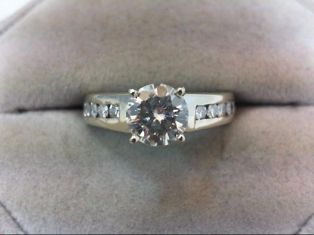 Lady's Gold Ring 14K White Gold 5.69g