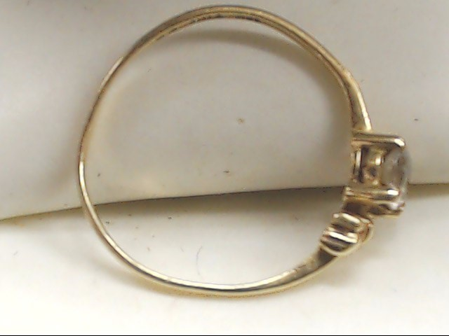 Lady's Gold Ring 10K Yellow Gold 0.9g Size:5.5