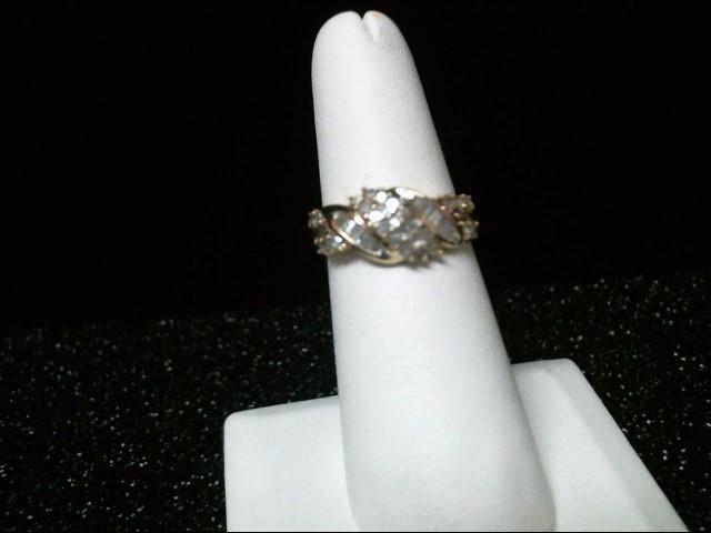 Lady's Diamond Cluster Ring 38 Diamonds .76 Carat T.W. 10K Yellow Gold 3.3g