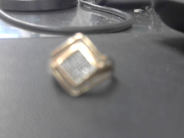 Gent's Diamond Cluster Ring 44 Diamonds .88 Carat T.W. 10K Yellow Gold 4.1g