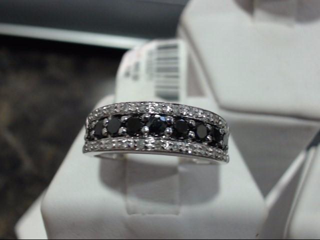 Lady's Gold-Diamond Anniversary Ring 0.01 CT. 14K White Gold 3.2g