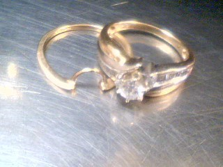 Lady's Diamond Wedding Set 21 Diamonds .70 Carat T.W. 14K Yellow Gold 6.6g