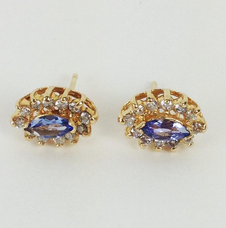 Tanzanite Diamond 14kt Earrings
