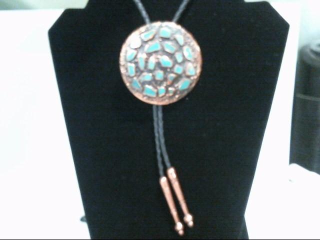 Copper Turquoise Bolo Tie