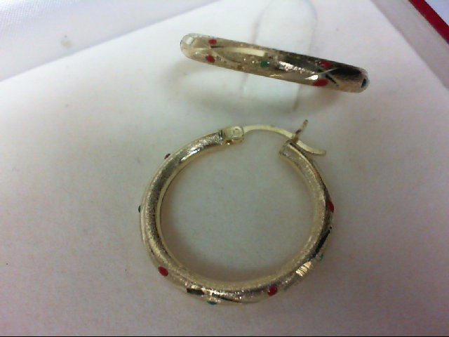 Gold Earrings 14K Yellow Gold 2.8g