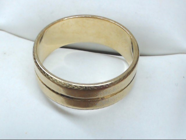 Lady's Gold Wedding Band 14K Yellow Gold 3.6g Size:6