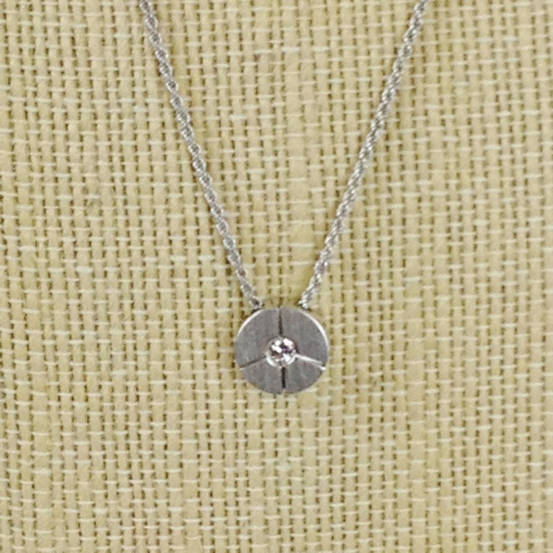 Diamond Necklace .10 CT. 18K White Gold 7.65g Sabini Italian Fine Jewelry