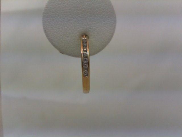Gold-Diamond Earrings 14 Diamonds .14 Carat T.W. 14K Yellow Gold 2.4g