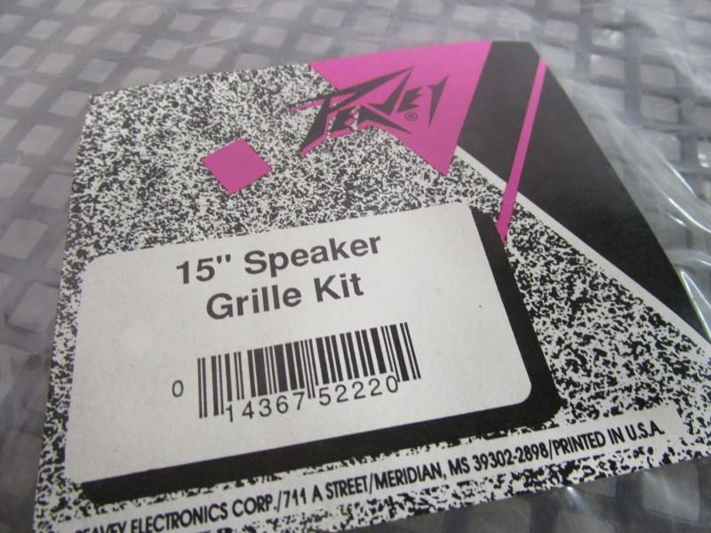 """15"""" PEAVEY METAL SPEAKER GRILL, NEW OLD STOCK, IN PACKAGE"""
