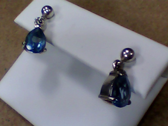 Blue Stone Silver-Stone Earrings 925 Silver 2.4g
