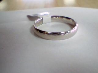 Gent's Gold Wedding Band 10K White Gold 4.4g Size:12