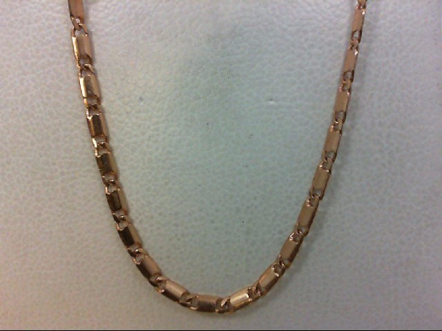 "18"" Gold Fashion Chain 14K Rose Gold 3.8g"