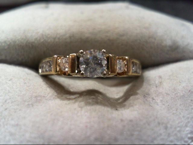 Lady's Diamond Wedding Set 11 Diamonds .59 Carat T.W. 14K Yellow Gold 3.3g