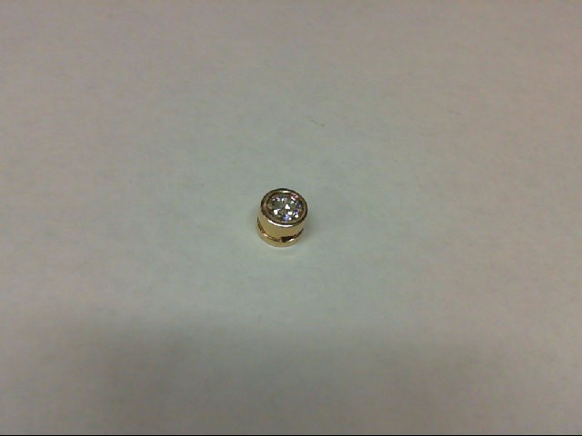 Gold-Diamond Solitaire Pendant 0.4 CT. 14K Yellow Gold 4.2g