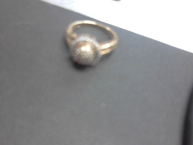 Lady's Diamond Cluster Ring 30 Diamonds .210 Carat T.W. 10K Yellow Gold 2.7g