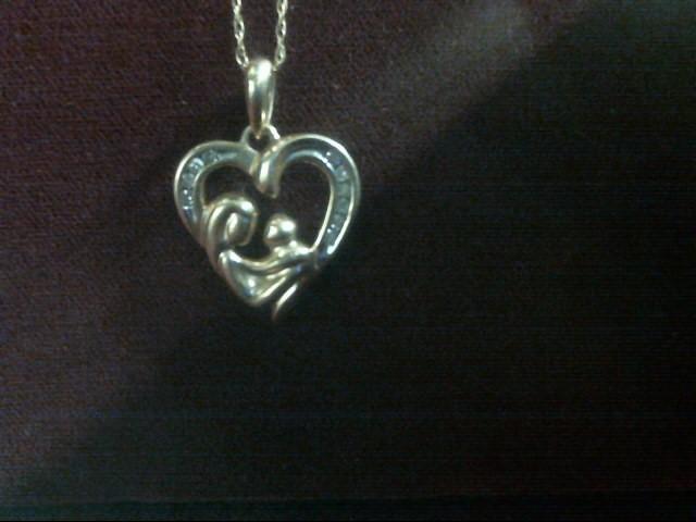 Diamond Necklace 10 Diamonds .10 Carat T.W. 10K Yellow Gold 1.4dwt