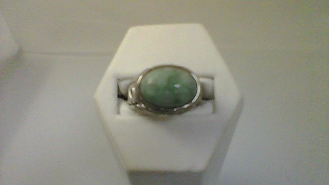 Synthetic Agate Lady's Silver & Stone Ring 925 Silver 8g