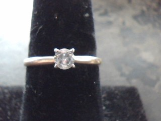Lady's Diamond Solitaire Ring .20 CT. 14K Yellow Gold 1.1dwt