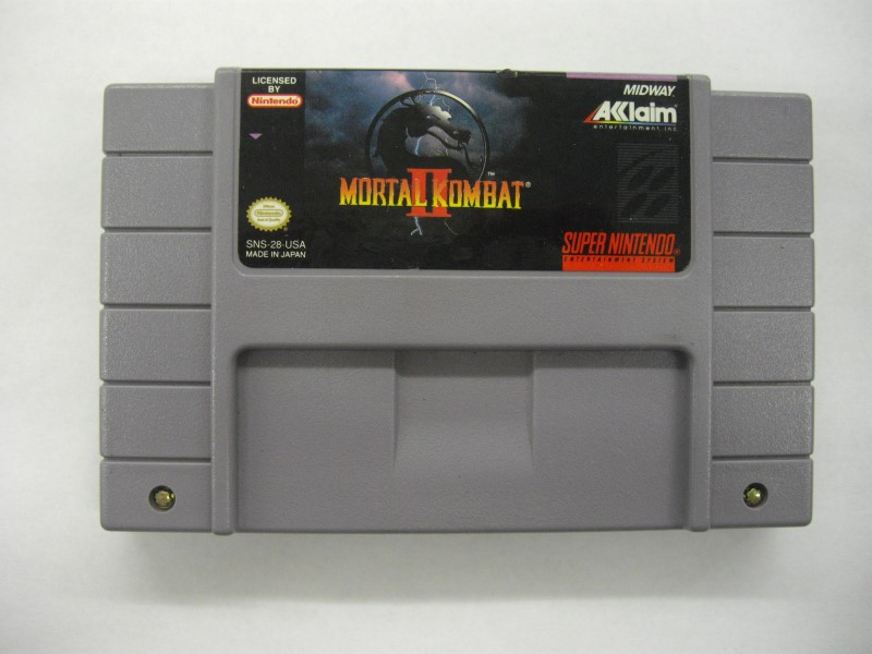 "SNES MORTAL KOMBAT II ""GAME ONLY"""