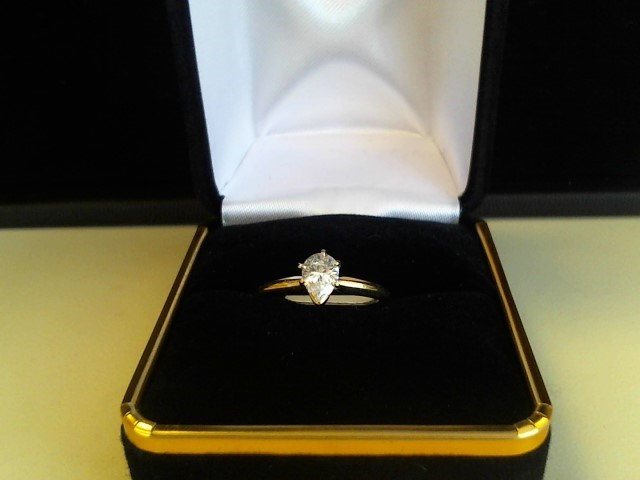 Lady's Diamond Engagement Ring .53 CT. 14K Yellow Gold 1.3dwt