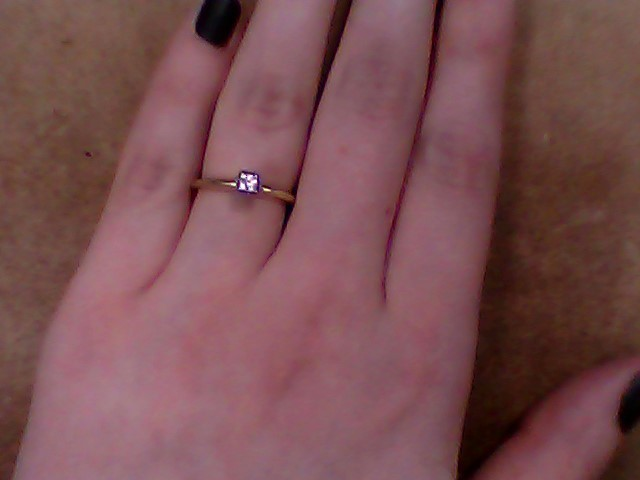 Lady's Diamond Solitaire Ring .22 CT. 10K Yellow Gold 2.4g