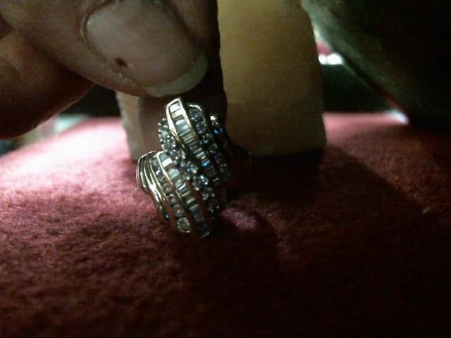 Gent's Diamond Cluster Ring 47 Diamonds 1.16 Carat T.W. 14K Yellow Gold 4.8dwt