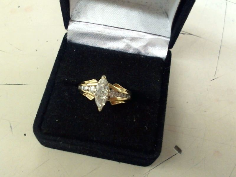Lady's Diamond Engagement Ring 12 Diamonds .80 Carat T.W. 14K Yellow Gold 5g