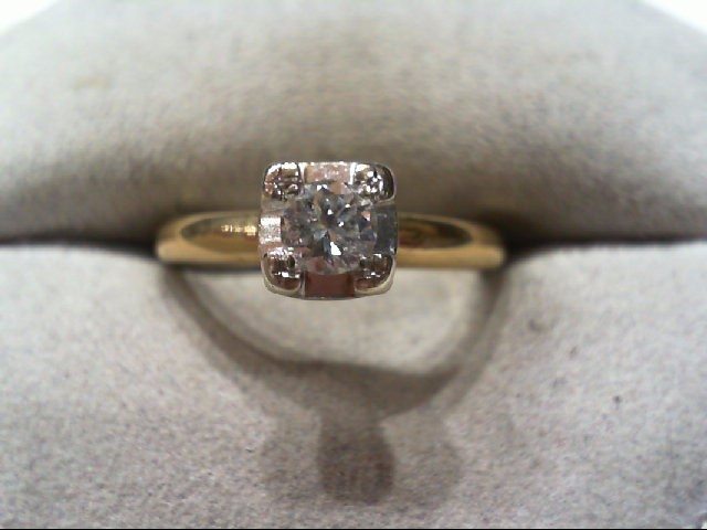 Lady's Diamond Engagement Ring .27 CT. 14K Yellow Gold 2.8g