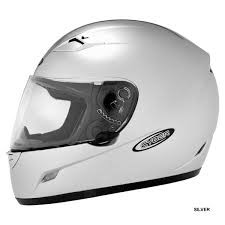 BIKERS CHOICE 640742 CYBER US-39 MED LITE SILVER FULL FACE HELMET