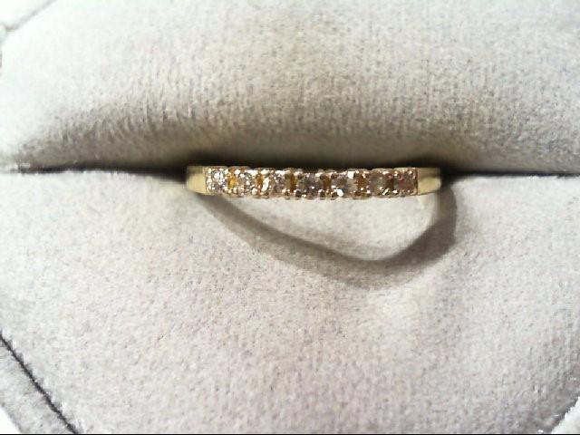 Lady's Gold-Diamond Anniversary Ring 7 Diamonds .14 Carat T.W. 14K Yellow Gold