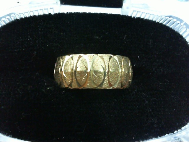 Lady's Gold Wedding Band 14K Yellow Gold 5.3g