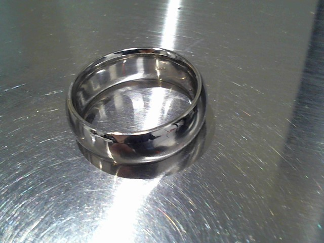 Gent's Gold Wedding Band 14K White Gold 11g Size:9.5