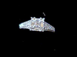 Lady's Diamond Cluster Ring 19 Diamonds .94 Carat T.W. 14K White Gold 4.1g