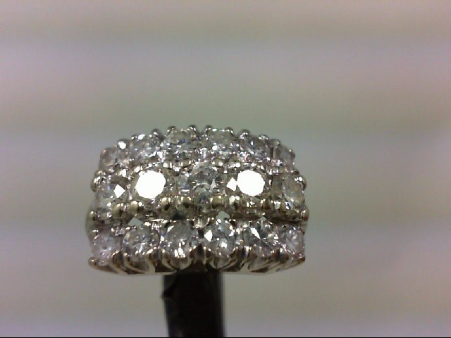 Lady's Diamond Wedding Band 17 Diamonds 2..00Carat T.W. 14K White Gold 5.53g