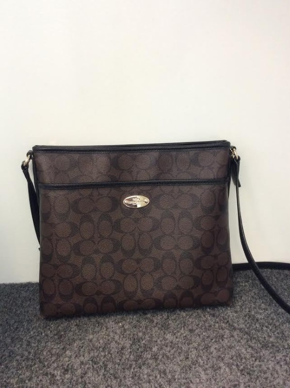 Beautiful Coach Signature Brown/Black Messenger Crossbody Shoulder Bag 34938