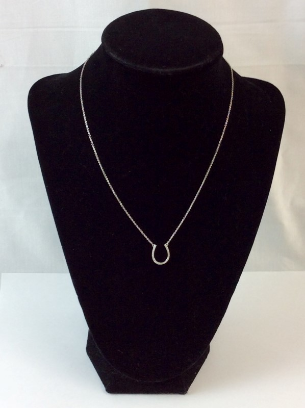 "16"" Diamond Necklace 30 Diamonds .150 Carat T.W. 14K White Gold 1.4dwt"
