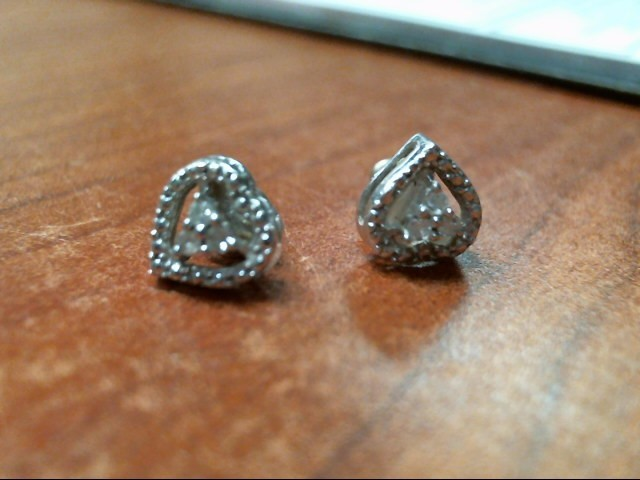 SILVER AND DAIMOND EARRINGS .925