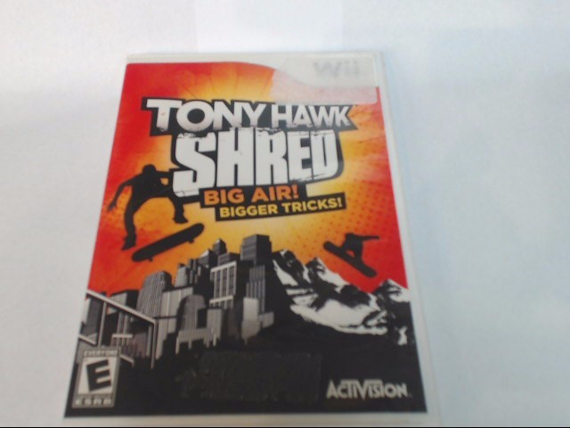 Nintendo Wii Game TONY HAWK SHRED BIG AIR BIGGER TRICKS