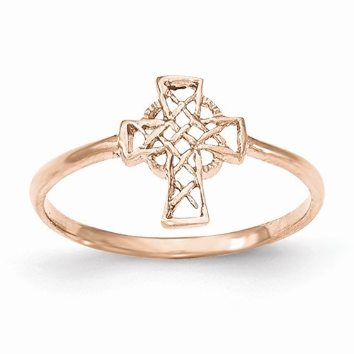 Lady's Gold Ring 14K Rose Gold 0.95g